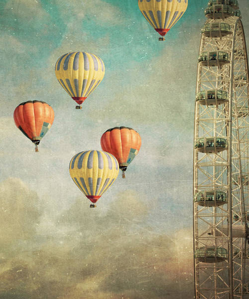 Air Balloon Wall Art - Photograph - Tales 485 by Violet Gray