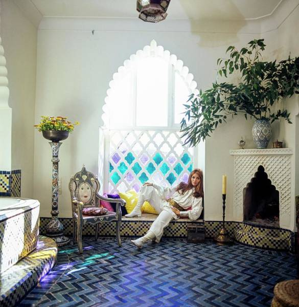 Window Photograph - Talitha Getty Sitting By Window by Patrick Lichfield