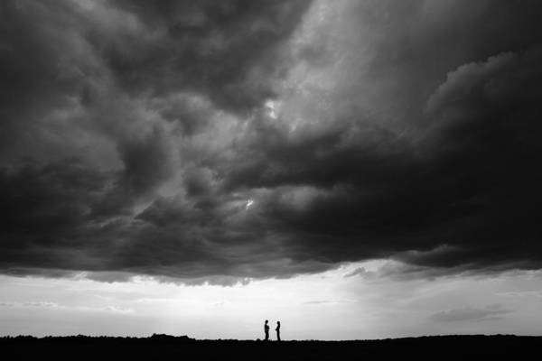Pair Photograph - Talk Under The Sky by Simun Ascic