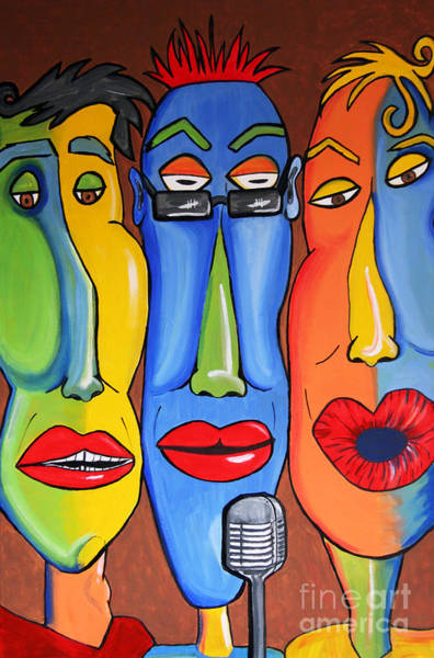 Painting - Talking Heads by Vickie Scarlett-Fisher