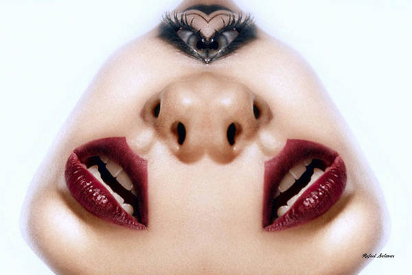 Digital Art - Talking Of Both Sides Of My Mouth by Rafael Salazar
