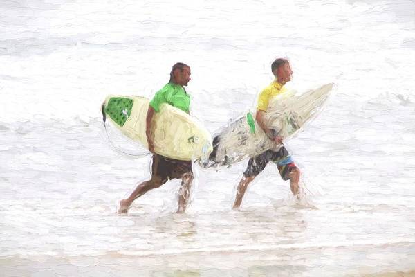 Photograph - Talking Surfers by Alice Gipson