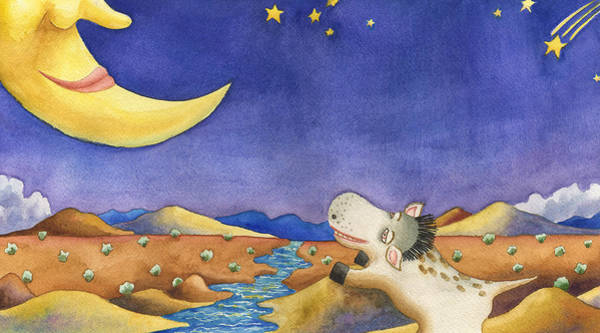 Painting - Talking To Mr. Moon by Anne Gifford