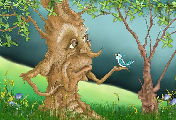 Wall Art - Digital Art - Talking To The Tree by Hank Nunes