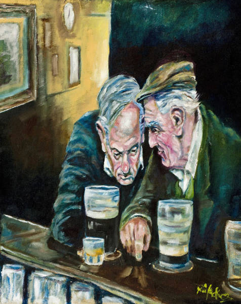 Ireland Painting - Talking Treason by Kevin McKrell
