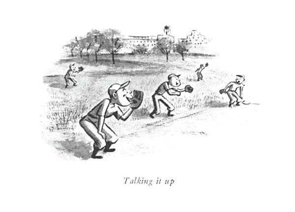 Pitchers Drawing - Talking by William Steig