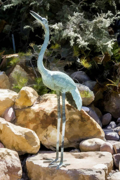 Digital Art - Tall Bird by Photographic Art by Russel Ray Photos