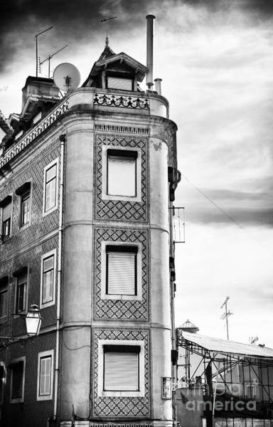 Wall Art - Photograph - Tall Building In Alfama by John Rizzuto