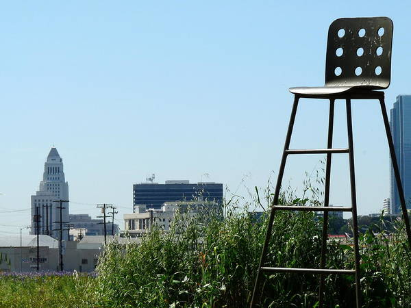 Photograph - Tall Chair And City Hall by Jeff Lowe