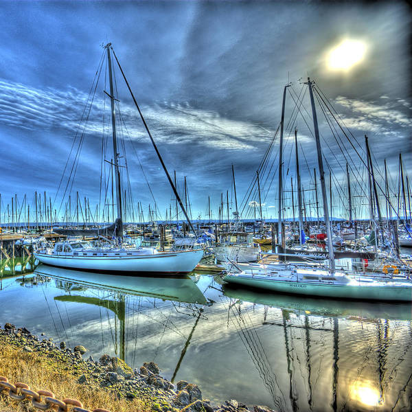 Port Townsend Photograph - Tall Masts At Rest by Dale Stillman