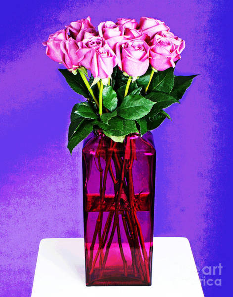 Photograph - Tall Pink Roses by Larry Oskin