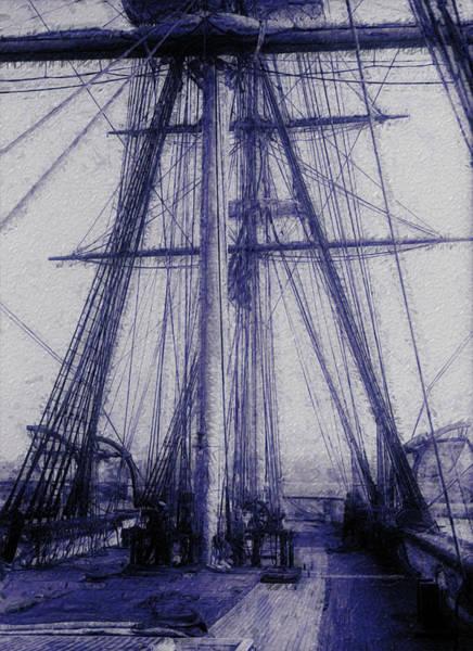 Wall Art - Painting - Tall Ship 2 by Jack Zulli
