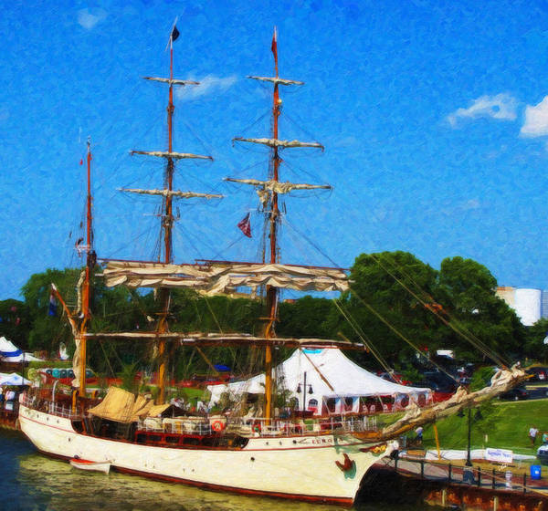 Painting - Tall Ship Europa by Dean Wittle