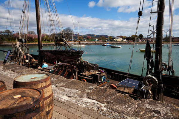 County Waterford Photograph - Tall Ship Keeywaydin , Dungarvan by Panoramic Images