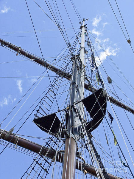 Photograph - Tall Ship Mast And Crows Nest 1 by Tom Doud