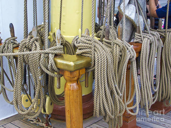 Photograph - Tall Ship Rigging 4 by Tom Doud