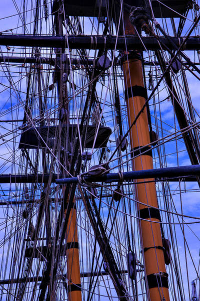 Rigging Photograph - Tall Ship Rigging Of The Hms Surprise by Garry Gay