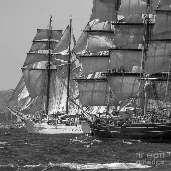Photograph - Tall Ship Stad Amsterdam And Elcano by Pablo Avanzini