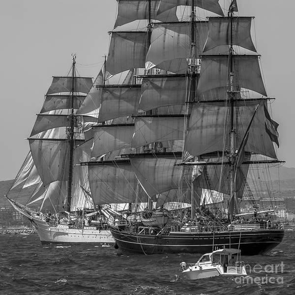 Photograph - Tall Ship Stad Amsterdam by Pablo Avanzini