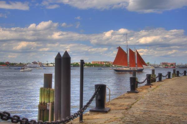 Photograph - Tall Ship The Roseway In Boston Harbor by Joann Vitali