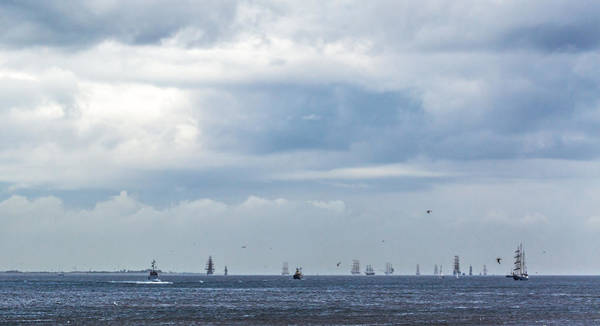 Photograph - Tall Ships' Exodus by Brian Grzelewski