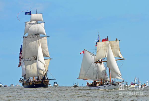 Photograph - Tall Ships On Saginaw Bay by Rodney Campbell