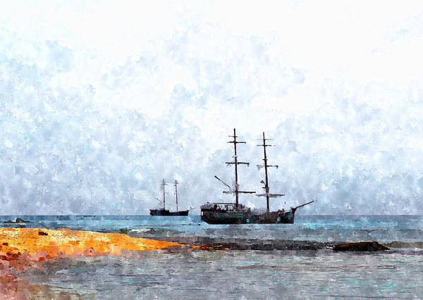Painting - Tall Ships by Rick Mosher