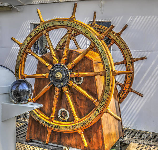Photograph - Tall Ships Wheel by Dale Powell