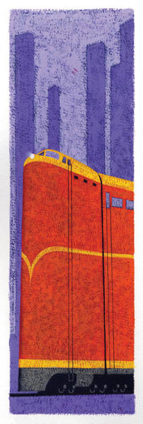 Wall Art - Photograph - Tall Train by MGL Meiklejohn Graphics Licensing