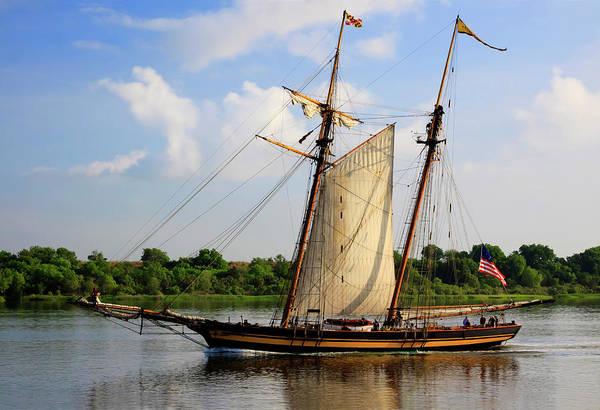 Savannah Photograph - Tall Wooden Ship Sail In Savannah by Danita Delimont