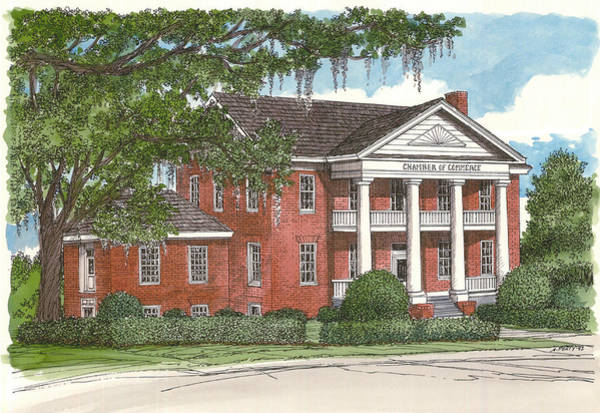 Mansion Mixed Media - Tallahassee Chamber Of Commerce by Audrey Peaty