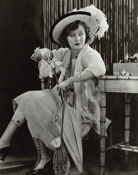 Boots Photograph - Tallulah Bankhead As Sadie Thompson In Rain by Lusha Nelson