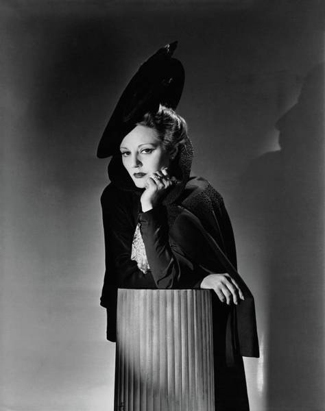 Photograph - Tallulah Bankhead For The Play The Little Foxes by Horst P. Horst
