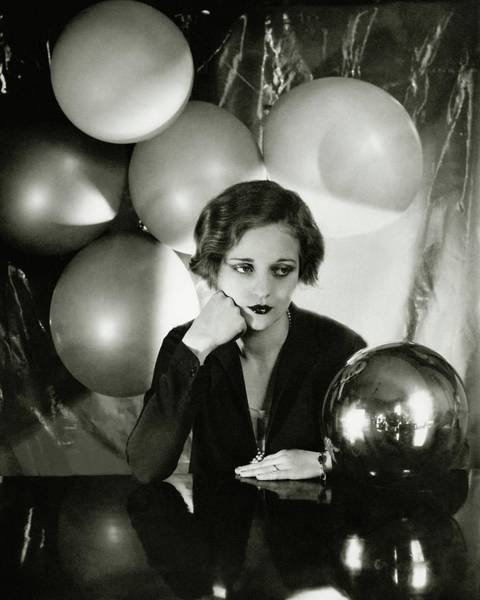 Make Up Photograph - Tallulah Bankhead Surrounded By Balloons by Cecil Beaton
