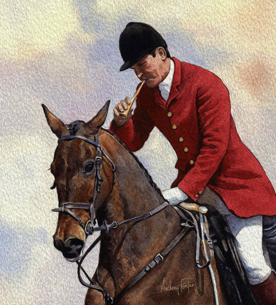 Wall Art - Digital Art - Tally Ho Detail by Anthony Forster