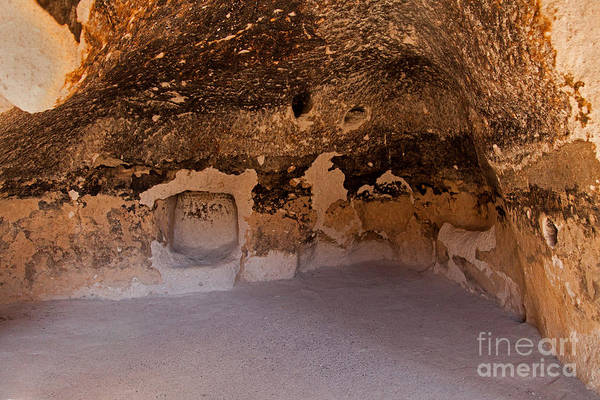 Photograph - Talus Housefront Room Bandelier National Monument by Fred Stearns