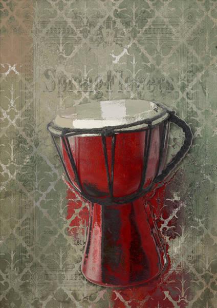 Djembe Wall Art - Digital Art - Tam Tam Djembe - 083134085 by Variance Collections
