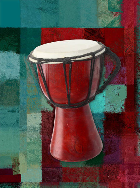 Djembe Wall Art - Digital Art - Tam Tam Djembe S03a by Variance Collections