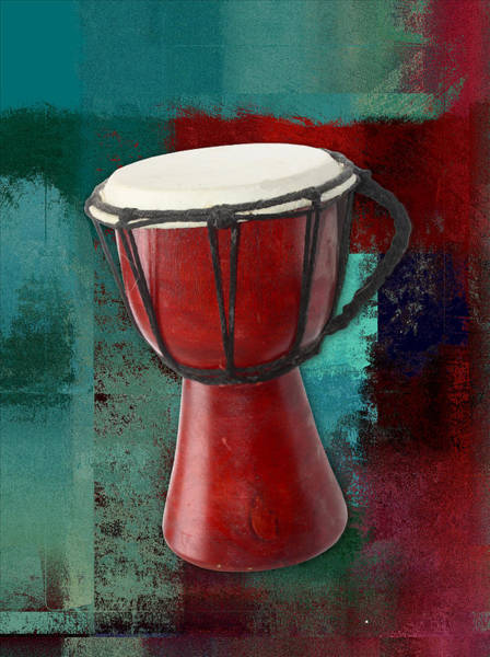 Djembe Wall Art - Digital Art - Tam Tam Djembe - S03ab02 by Variance Collections