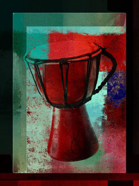 Djembe Wall Art - Digital Art - Tam Tam Djembe - S222a by Variance Collections