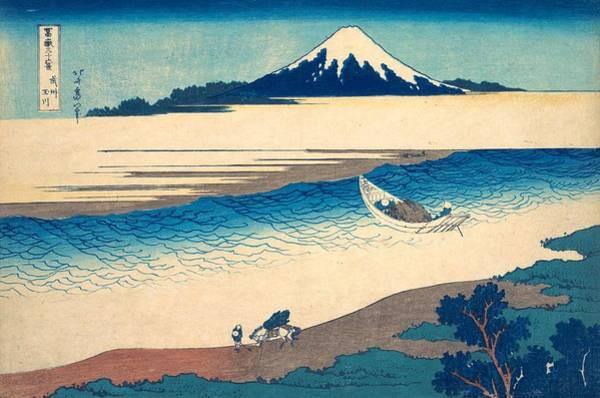 Thirty-six Views Of Mount Fuji Wall Art - Painting - Tama River In Musashi Province by Katsushika Hokusai