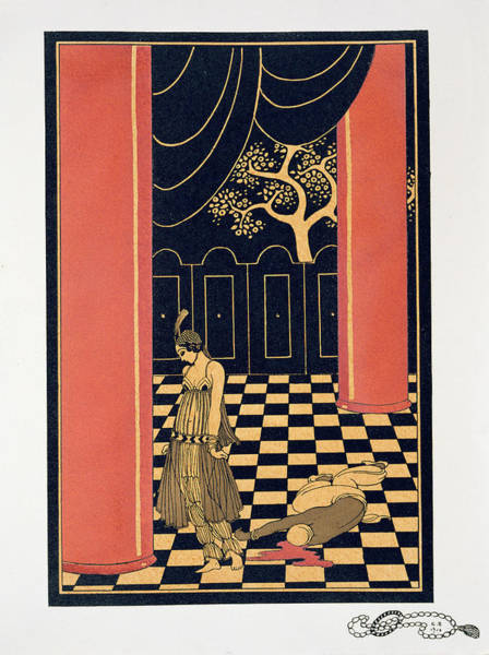 Accident Painting - Tamara Karsavina by Georges Barbier
