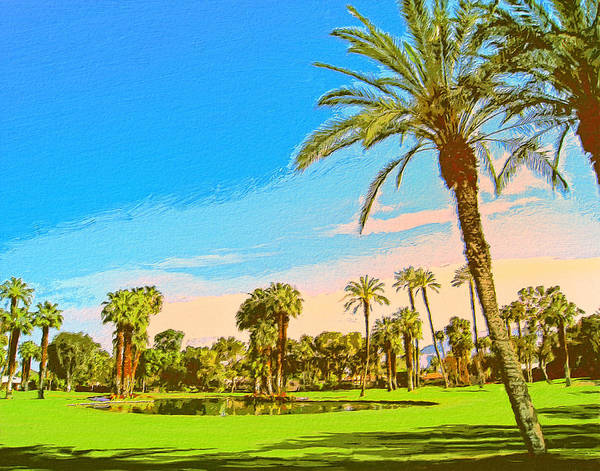 Country Club Painting - Tamarisk Morning by Dominic Piperata