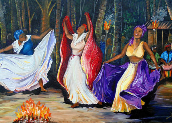 Voodoo Painting - Tamboulay by Karin  Dawn Kelshall- Best
