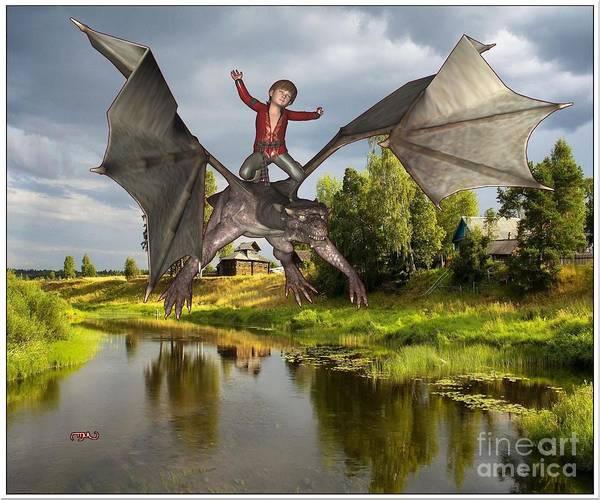 Wall Art - Painting - Tamer Of Dragons  Tod1 by Pemaro
