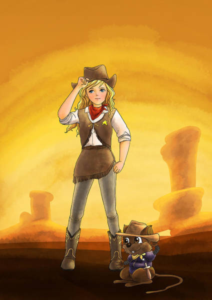 Tammy And Alfred Tame The West Art Print