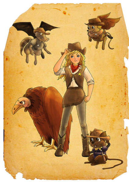 Painting - Tammy And The California Gold Rush by Reynold Jay