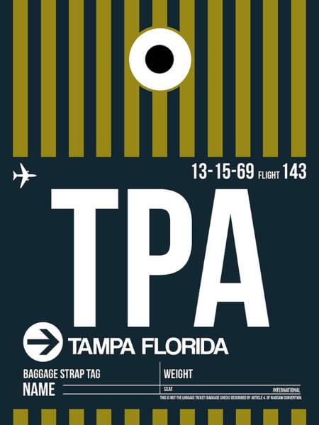 Tampa Digital Art - Tampa Airport Poster 1 by Naxart Studio