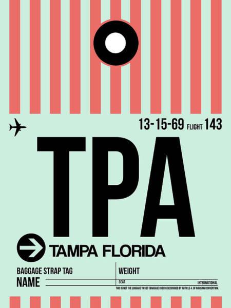 Tampa Digital Art - Tampa Airport Poster by Naxart Studio