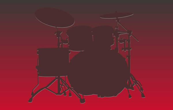 Drum Player Wall Art - Photograph - Tampa Bay Buccaneers Drum Set by Joe Hamilton